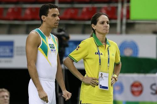Rafael Andrade e a técnica Tatiana Figueiredo / Foto: Ricardo Bufolin/CBG