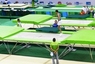Treino de pódio do trampolim / Foto: Divulgação