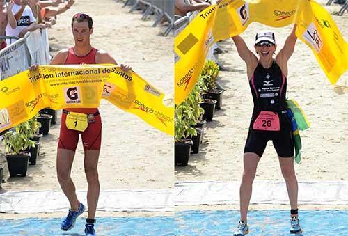 Colucci é penta e Carla é tricampeã do no 22º Triathlon Internacional de  Santos   Foto 820c167220893
